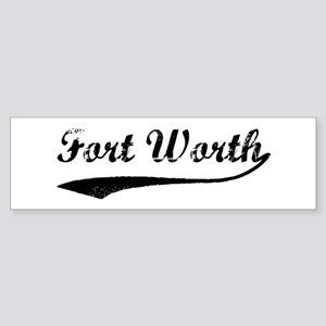 Vintage Fort Worth Bumper Sticker